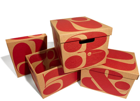 Gorgeous typographic archive boxes