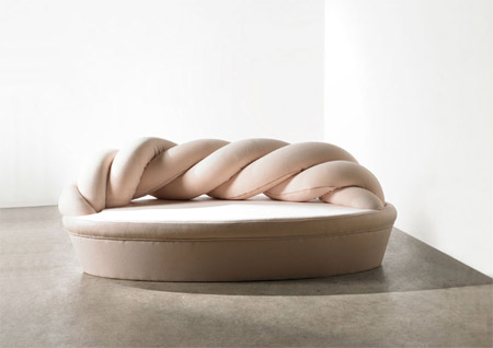 A sofa that looks like soft marshmallow