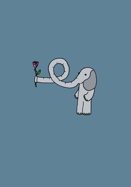 Valentine day elephants