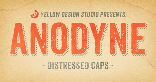 Anodyne: 6 distressed all-caps fonts for only $9