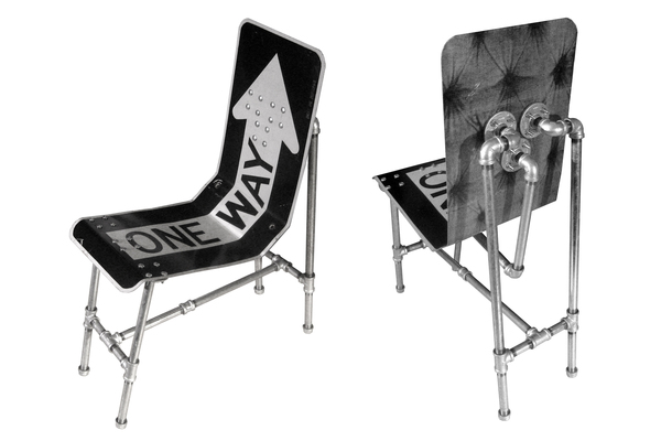 Recycled Furniture Made With Street Signs
