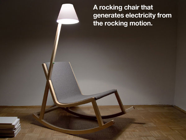 Murakami: a rocking chair that generates electricity