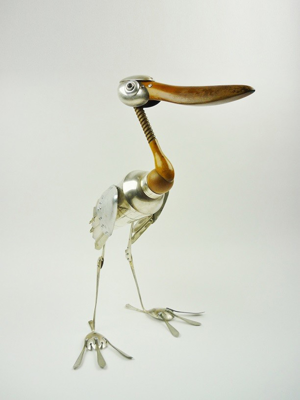 Cute sculptures made of recycled material by Dean Patman