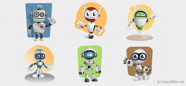 Robot_Cartoon_Character_Set