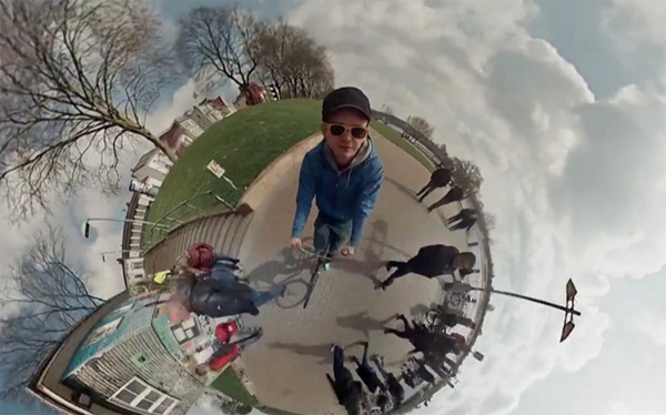 Awesome 360 degrees video made with 6 go pro cameras