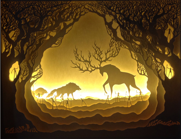 Illuminated Cut Paper Light Boxes By Hari Amp Deepti