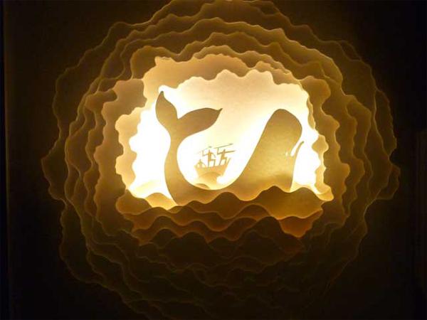 Illuminated Cut Paper Light Boxes By Hari Amp Deepti