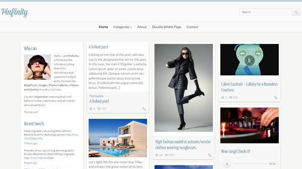 10 awesome Pinterest style WordPress themes