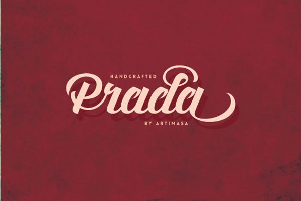 Prada script: a fun vintage font