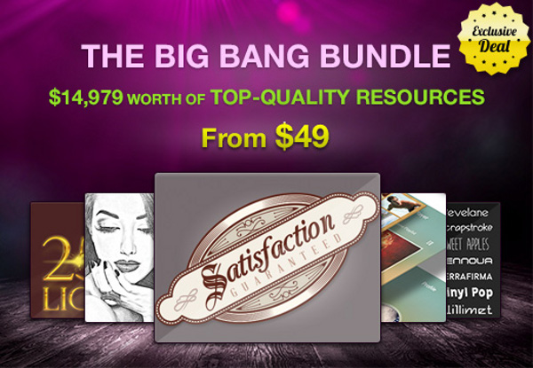 The Big Bang Bundle: $14,979 worth of design Resources for $49