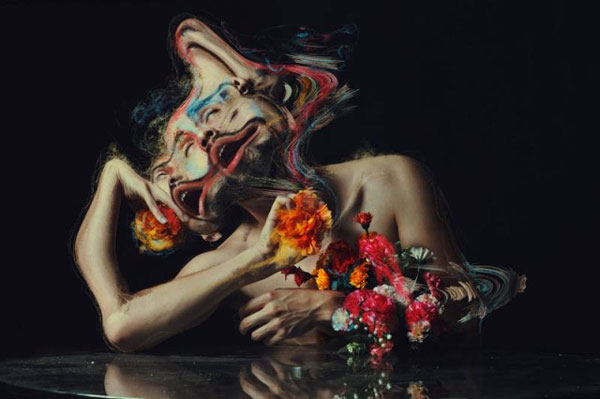 Digitally distorted portraits by Jon Jacobsen