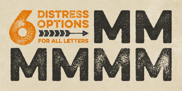 Eveleth: a new distressed font by Yellow Design Studio
