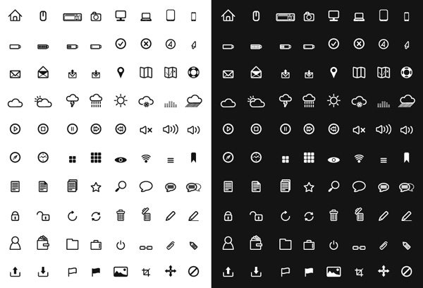 A free set of vector icons for your app