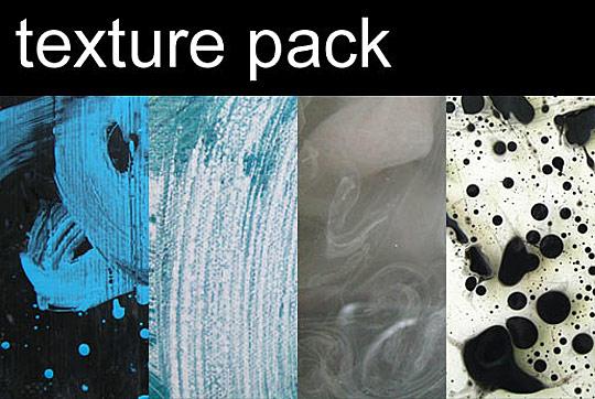 10 free paint Photoshop textures packs