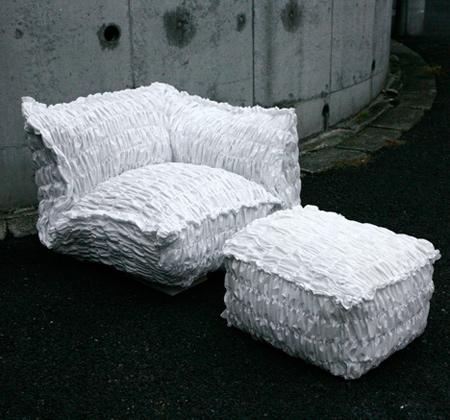 Crumpled Rumpled Paper Sofa