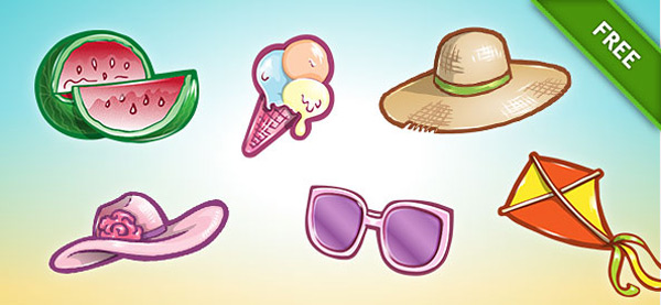 Free_PSD_Summer_Icon_Set