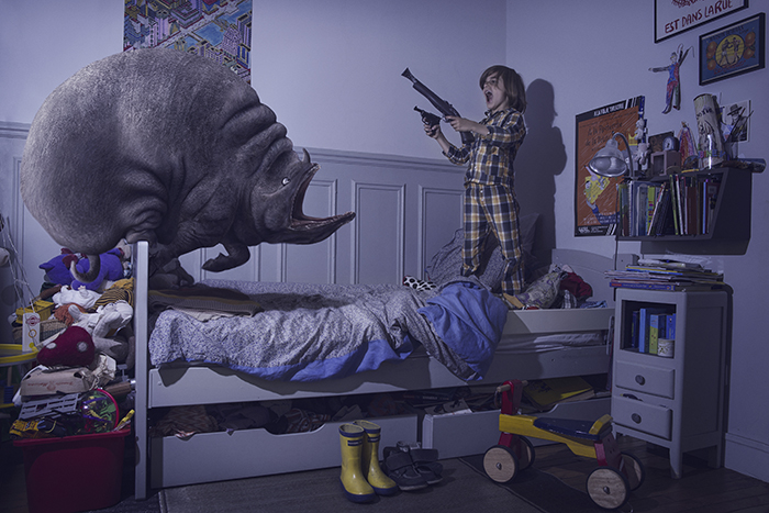 Bedroom monsters photo series