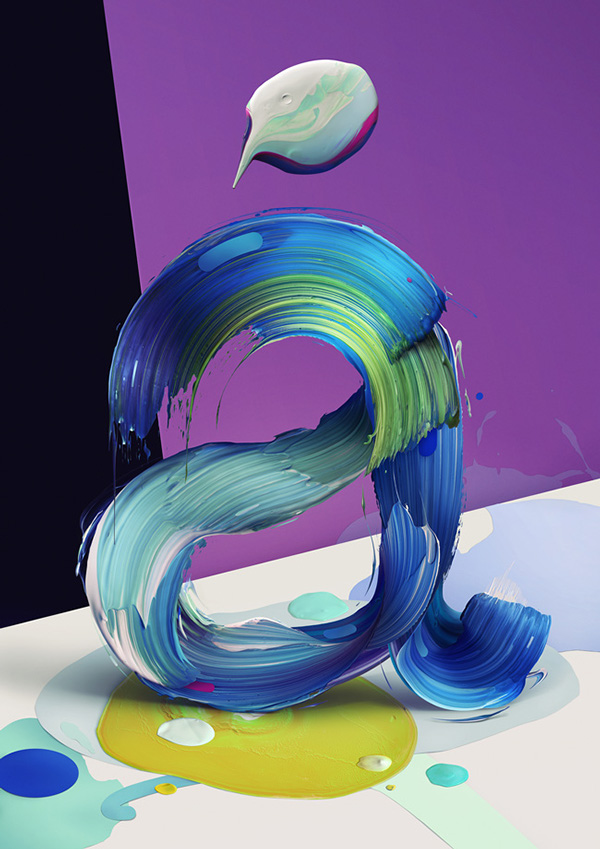 Atypical: painted typographic posters