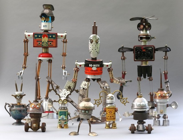 Adoptabot: cute robots made of recycled elements