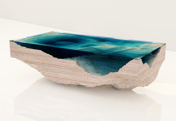 Splendid Topographic Tables - Topographic coffee table