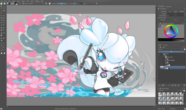 Krita, the open source painting software, get funded on Kickstarter