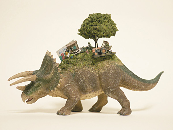 SEKAI: miniature ecosystems on the back of animals