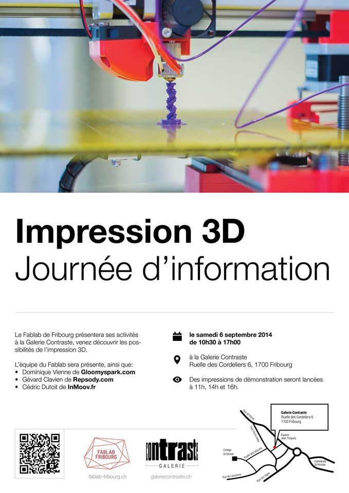 For our Swiss readers: 3D printing at the Contraste Gallery