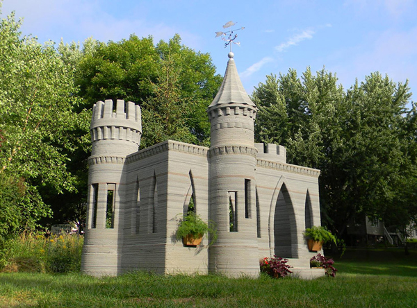 What's next with 3D printing? A concrete castle in your backyard