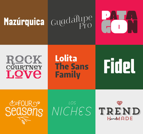 Great deal: a pack of 9 font families by LatinoType