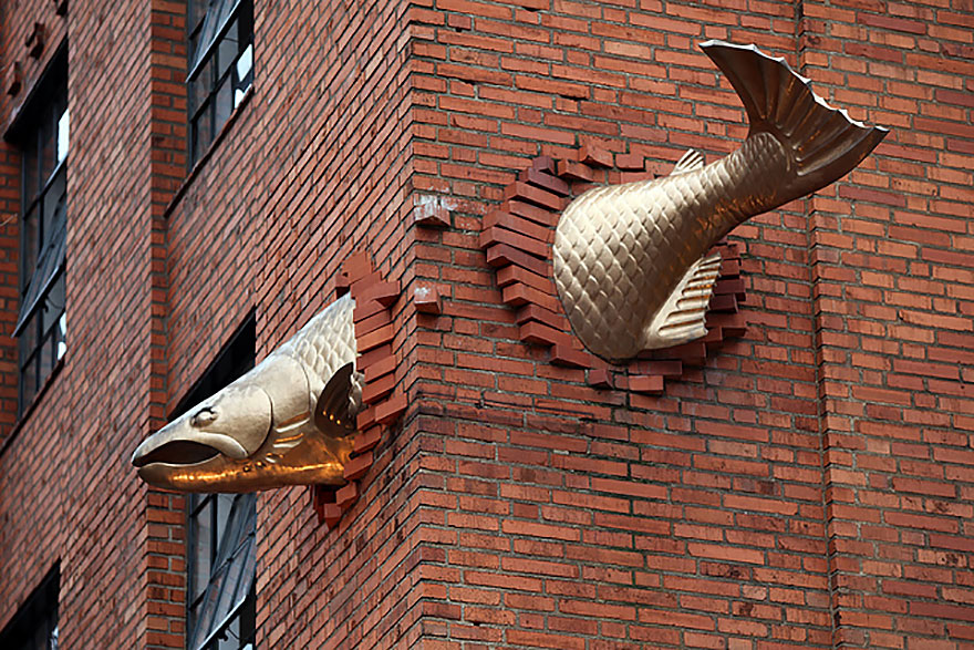 This salmon in Portland