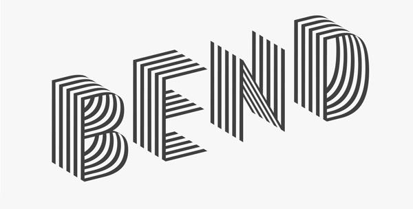 Bend font by Juri Zaech