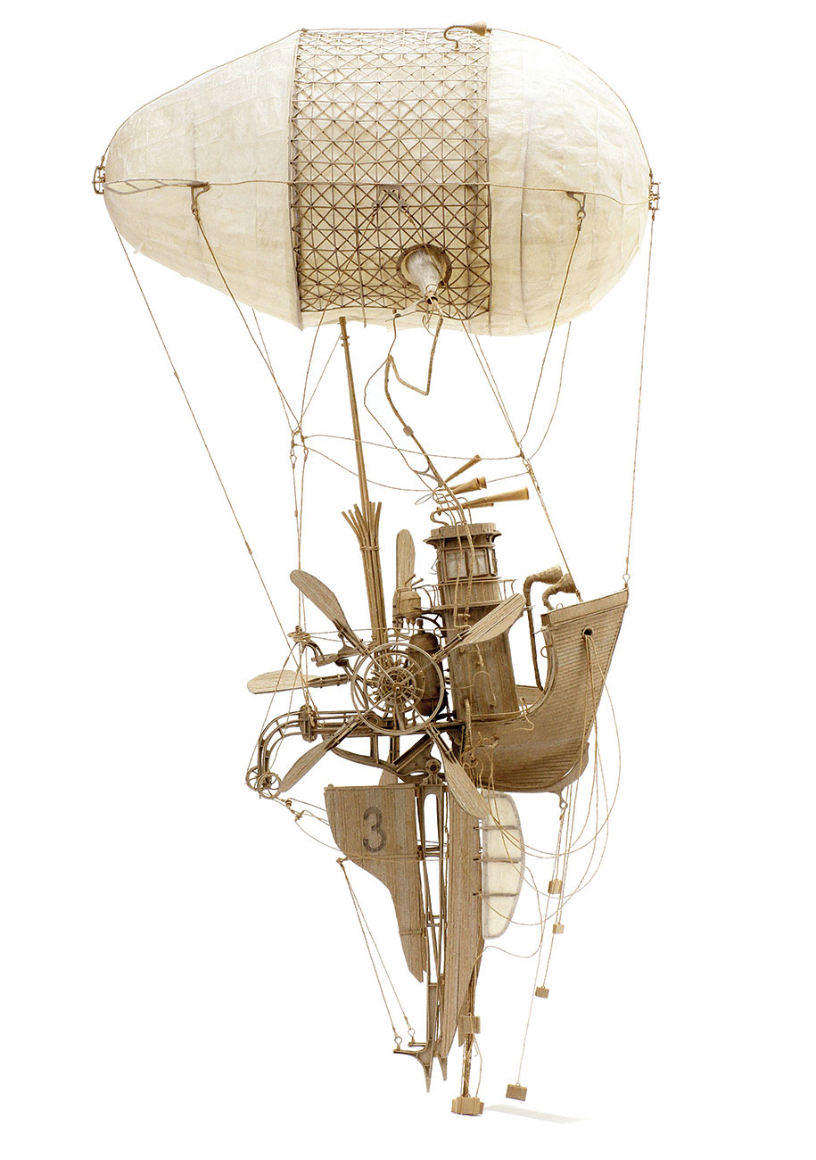 Amazing flying machines made of cardboard