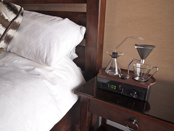 The alarm clock that wakes you up to the smell of coffee