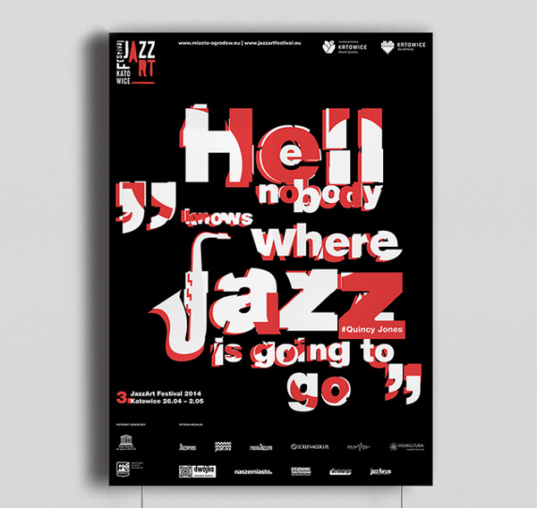 Awesome poster for the Katowice JazzArt Festival