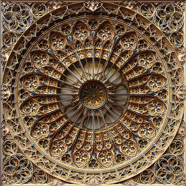 Amazingly detailed laser cut paper art by Eric Standley