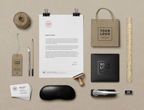8 free corporate identity mockup templates