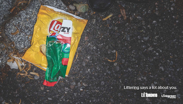 Powerful campaign about littering