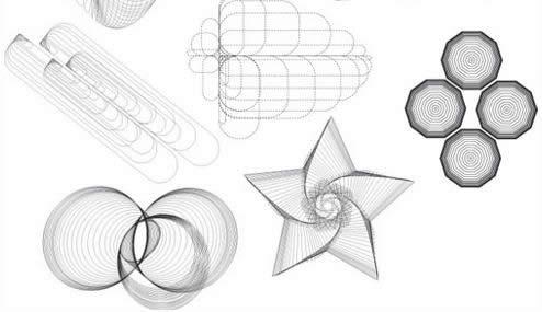 12-AbstractGeometricWireframeVectors