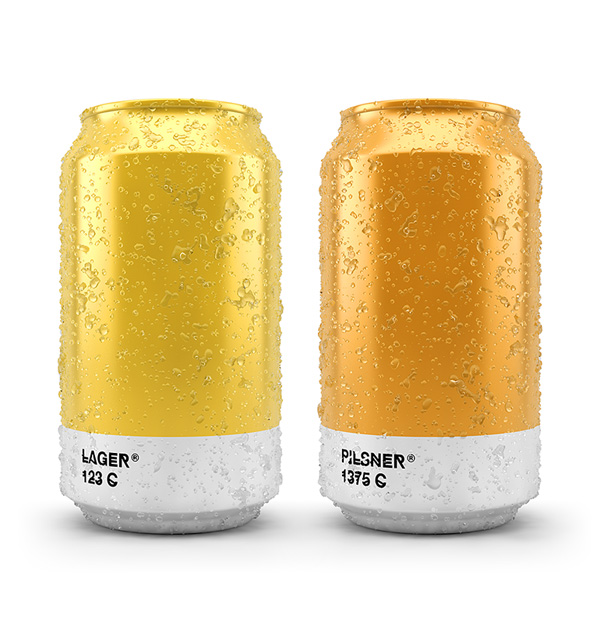 Pantone-inspired beer packaging