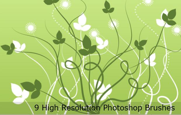 20 free swirl Photoshop brushes