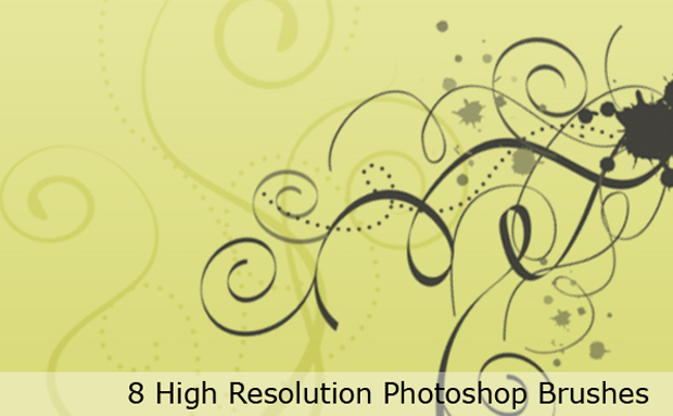 20 free swirl Photoshop brushes