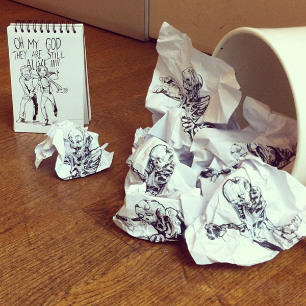 Clever doodles that interact with their environment