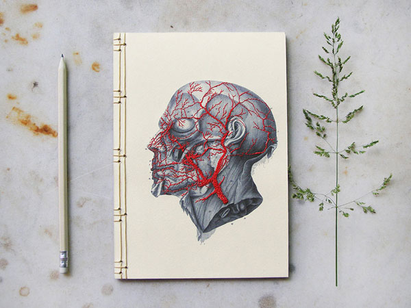 Notebooks covers with amazing embroidery