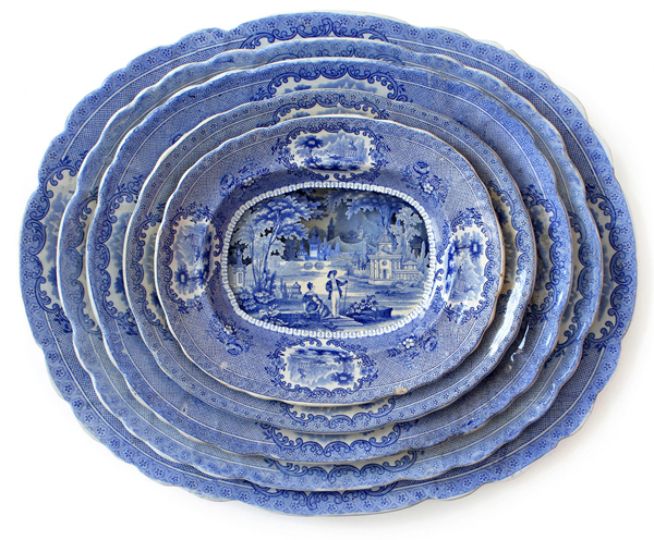 Layered dinner plate landscapes by Caroline Slotte