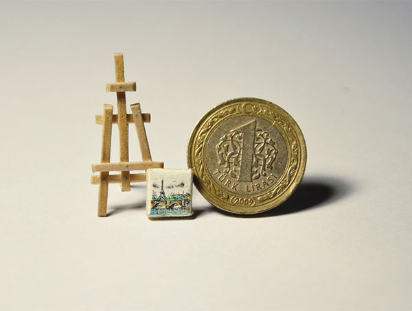 Tiny paintings by Mesut Kul