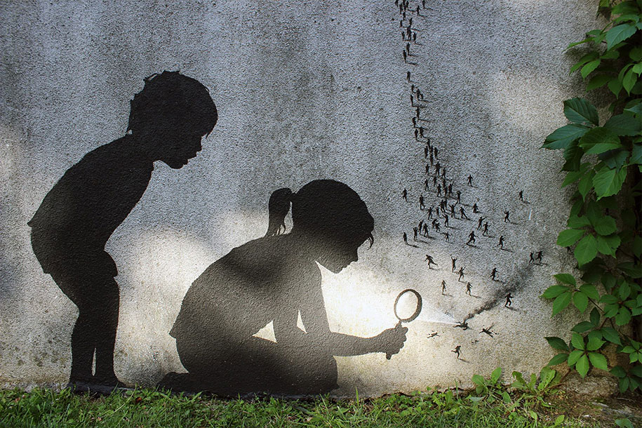Street art in Paris by Pejac