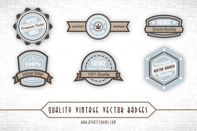 Blue-Brown-Vintage-Vector-Badges