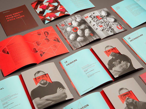 Gorgeous identity for a French theater