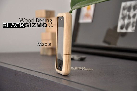 Black Gizmo Wooden iPhone Case