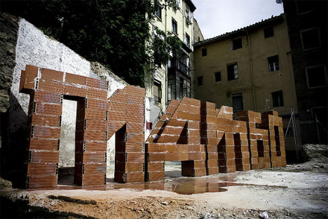 Brick Lettering by SpY